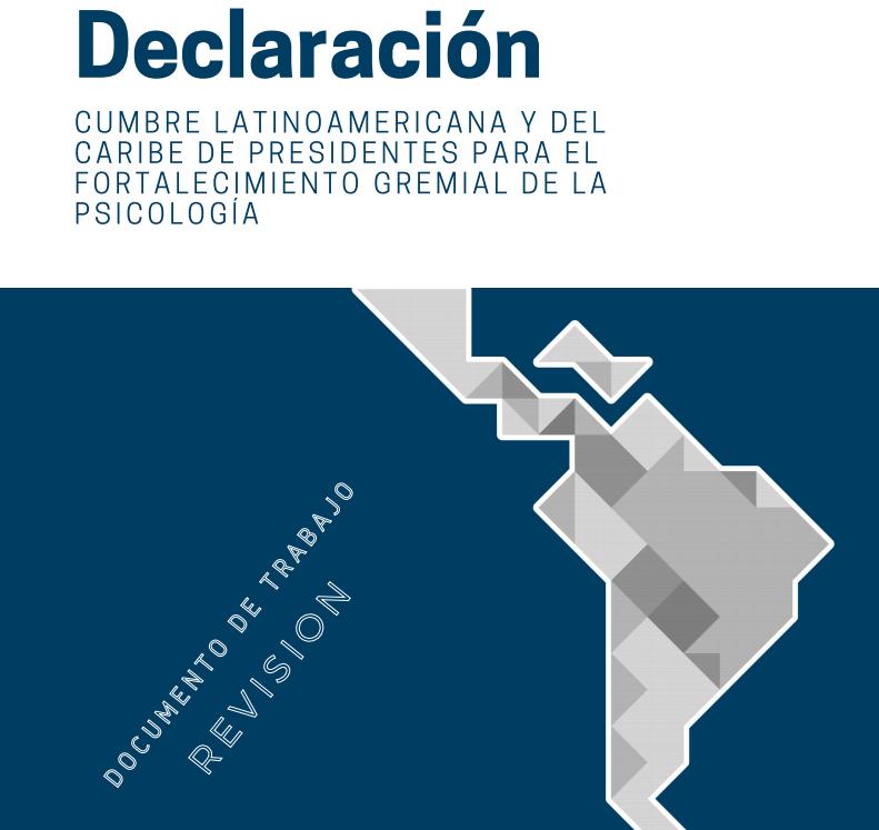 Declaración Cumbre Latinoamericana