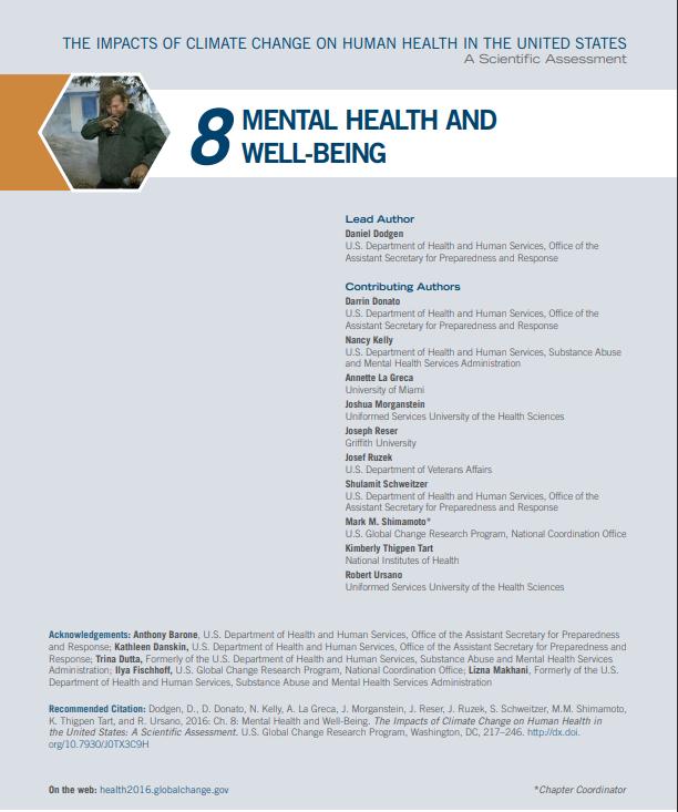 Climate Health 2016 08 Mental Health